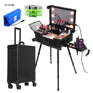 Neue Ankunft Verbesserte Musik Make-Up Zug Fall Kosmetik make-up box organizer make-up-station mit MP3