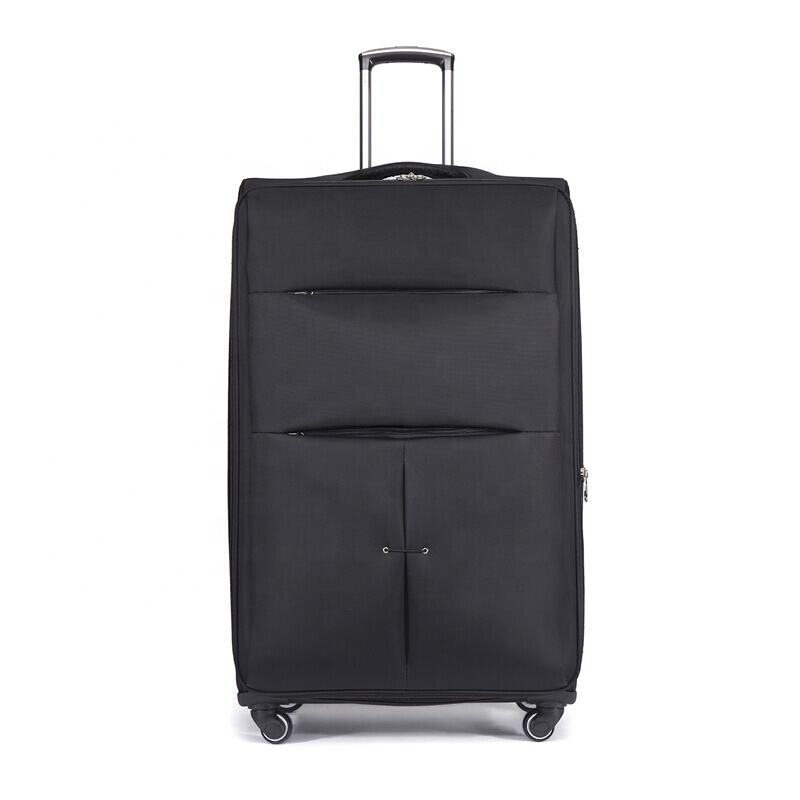 Wholesale Durable Fabric Luggage Soft Wheeled Traveling Trolley Bag Carry On Suitcase Set