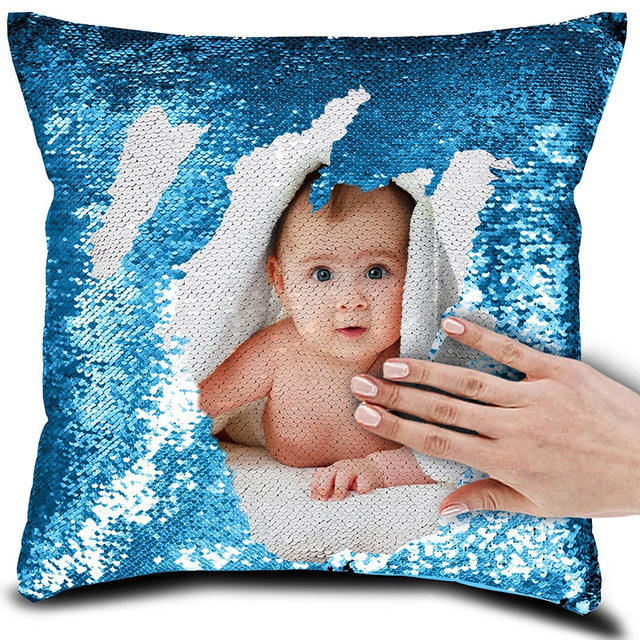 Feiyou new product color customizable sequin pillowcase cover magic color sublimation pillow case