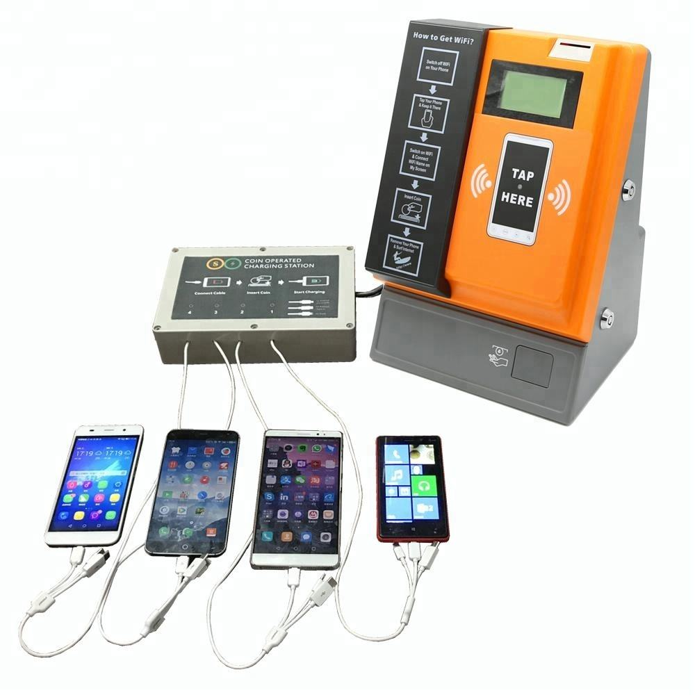 Wall Mounted Coin Operated Charging Mobile Phone Machine Vending