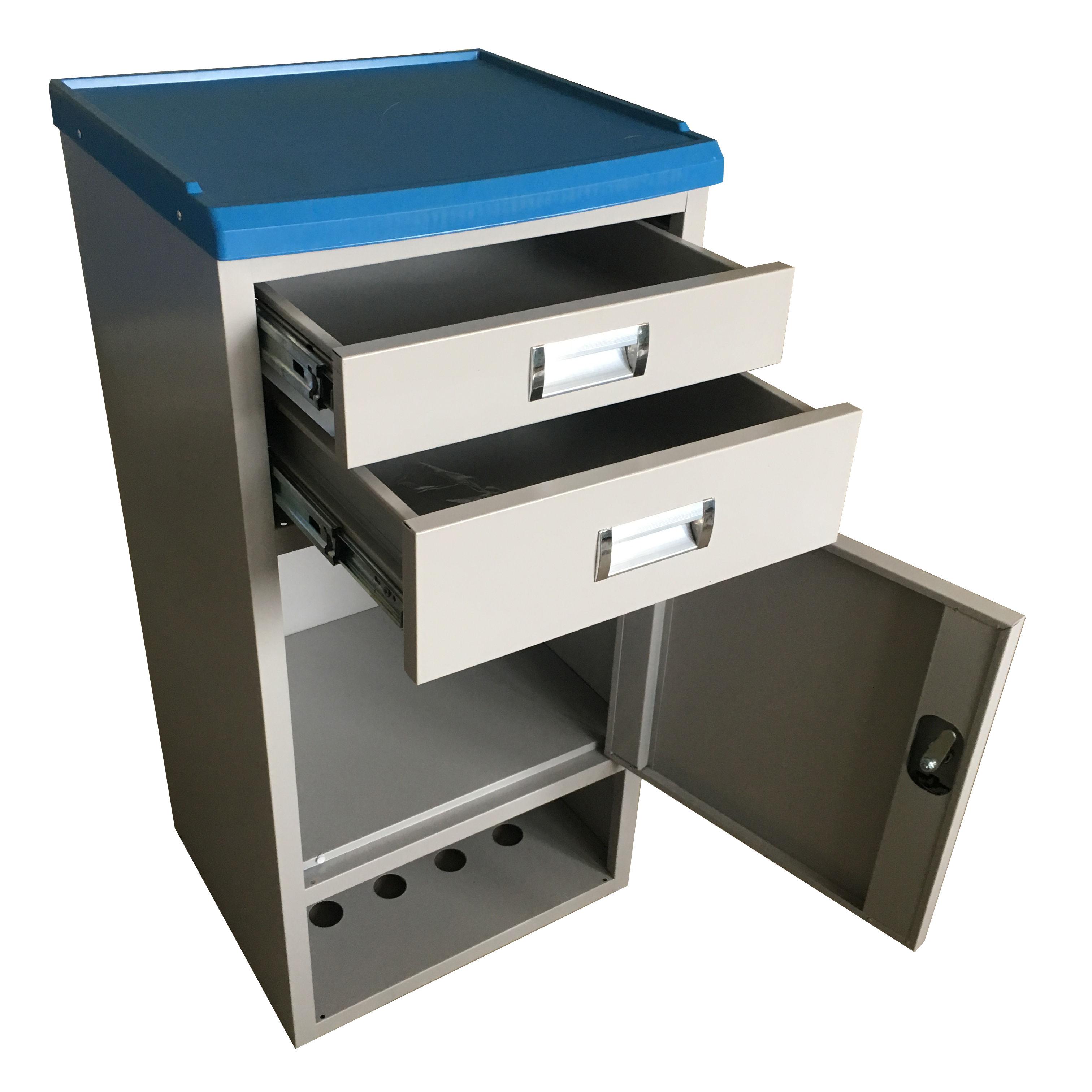 Di alta Qualità custom made ABS table top corpo in acciaio con locker Medico Ospedale Comodino per privte spa e ospedale