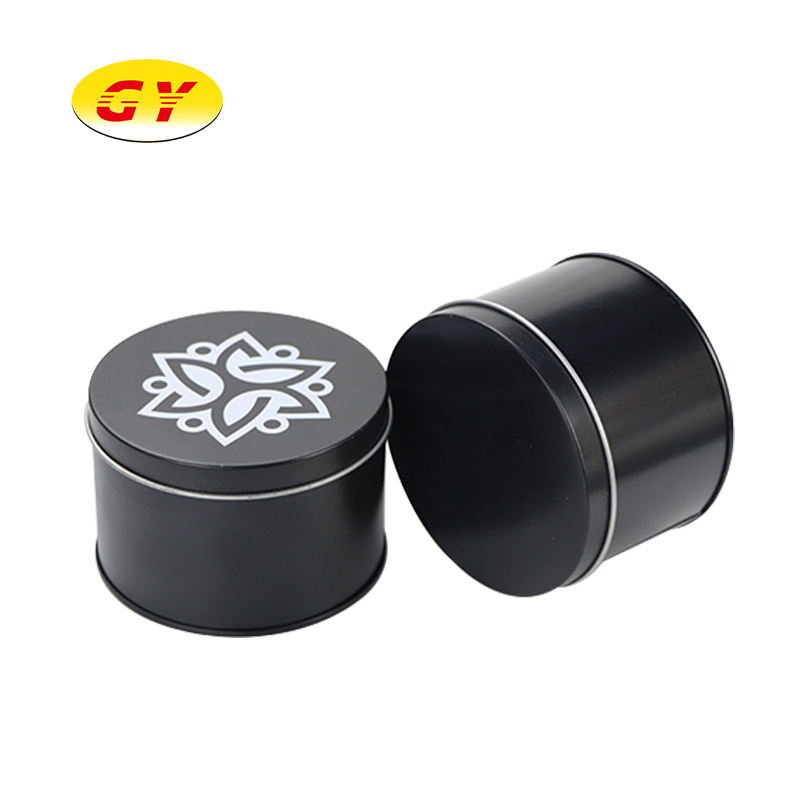 Tin Can Different Specifications Round Metal Tin Box Matte Black Tin Cans