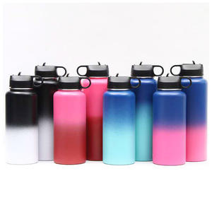 SANMI Hot 18oz 32oz 40oz Hydro Vacuum Insulated Stainless Steel Thomas Water Bottle flask Wide Mouth with Sport Straw Flex