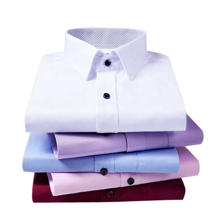 Hot Selling Custom Non-Iron Oxford Stand Collar Long Sleeves Men's Dress Shirts