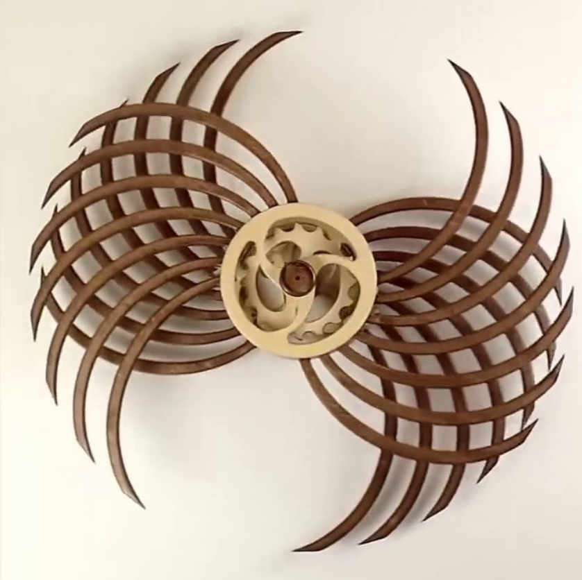 2020 New Design Hot Sale Unquie Wooden Wall Art Sculpture For Hotel Lobby Decoration