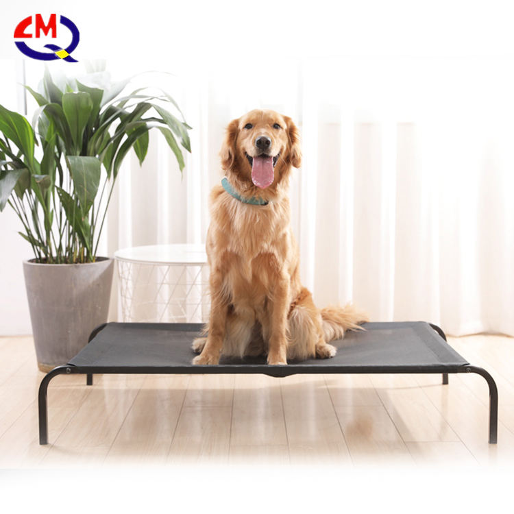 Removable Outdoor Folding Dog Bed Elevated Pet Bed With Metal Frame/Travel Bed Pet Cot For Dog