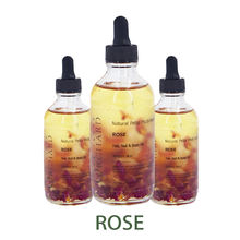 Private Label Pure and Natural Essential Oil Rose Petal Multi Use Oil For Face Body and Hair