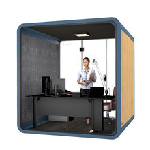 Tempered glass silence booth interpreter booth 4 person interpreter