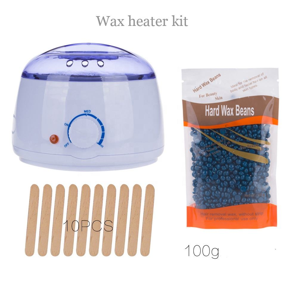 High quality 500cc home hair remover kit Electric Machine hot melt pot 300g wax heater depilatory warmer bean stick