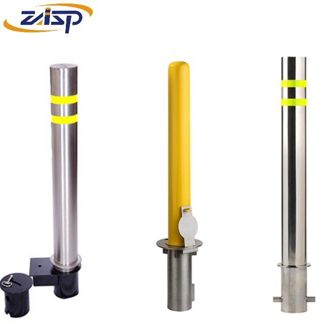 Hot sale traffic bollard steel removable post with padlock lockable for temporary safety parking