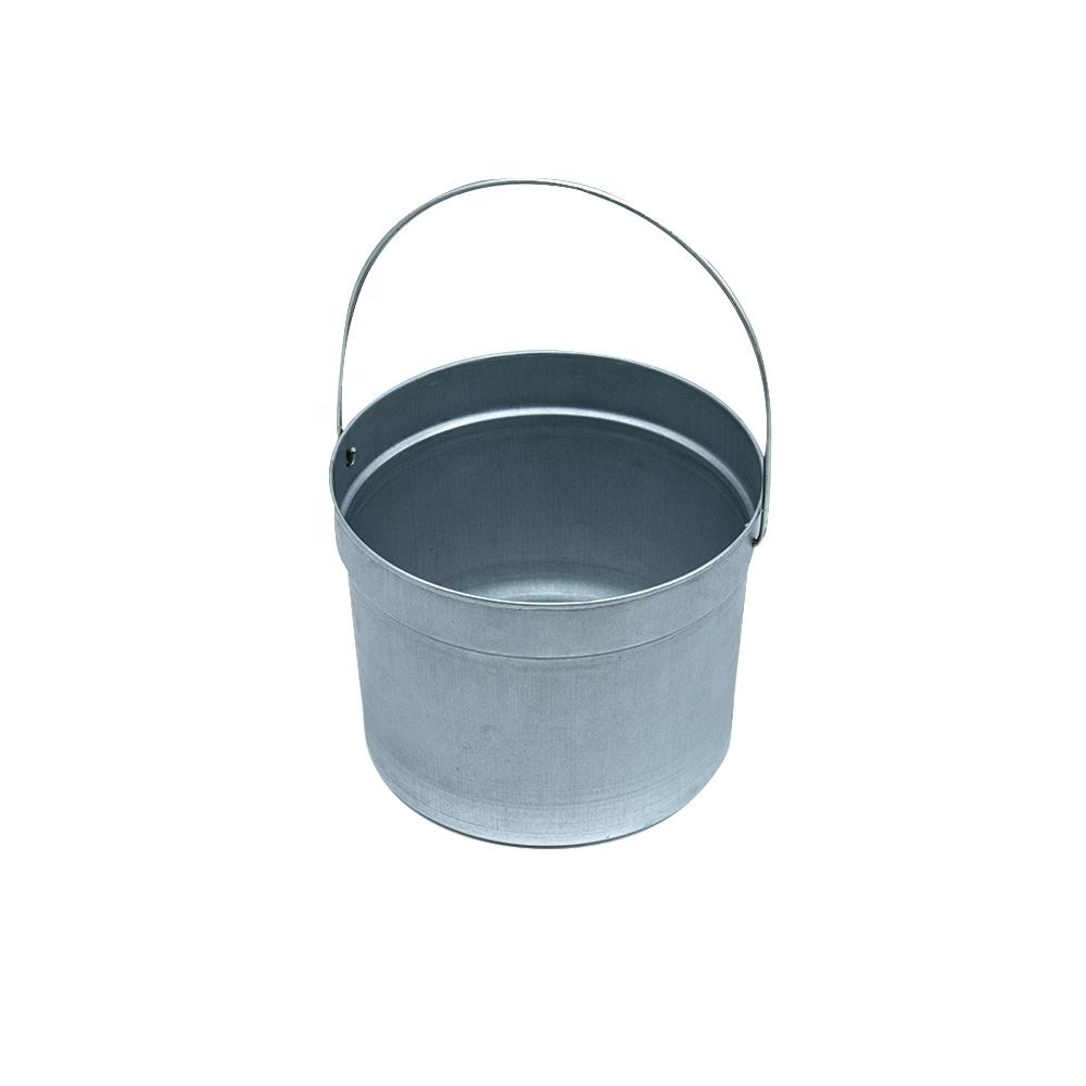small metal bucket pails container 1-3l galvanized