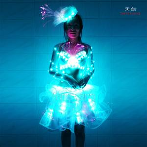 Controller Wireless led future vestito da ballo Latino, LED Pole dance Costume di Halloween