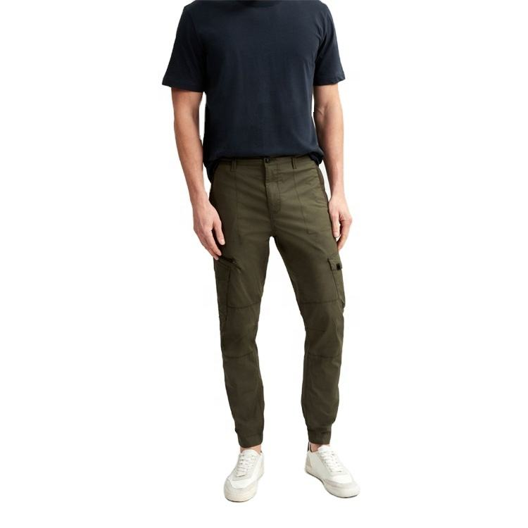 Quality Men Pants Slim Fit Cotton Zipper Fly Men Utility Cargo Pants Pockets Chino Trousers for Men