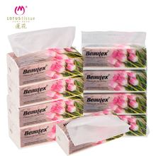 Sample Free Biodegradable 200 sheet women cleaning unbleached facial tissue fsc