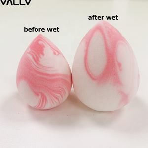 OEM newest softest marble color makeup sponge powder puff latex free marble beauty make up sponge private label blender