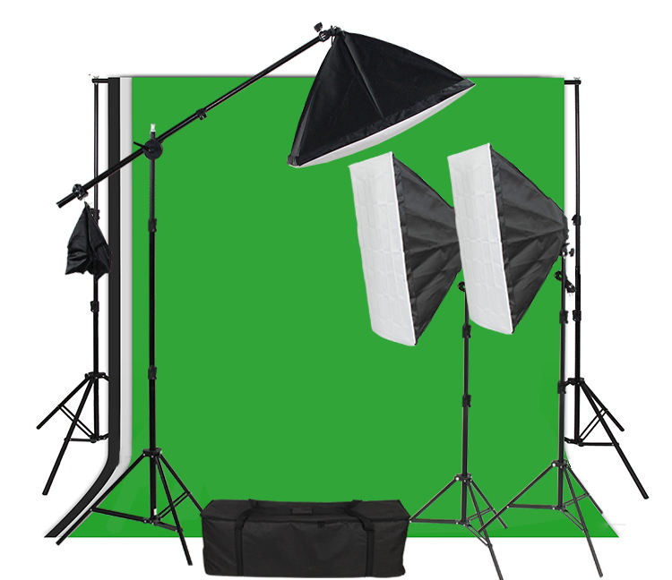 2.4*3M Background support stand flash studio 300w kit