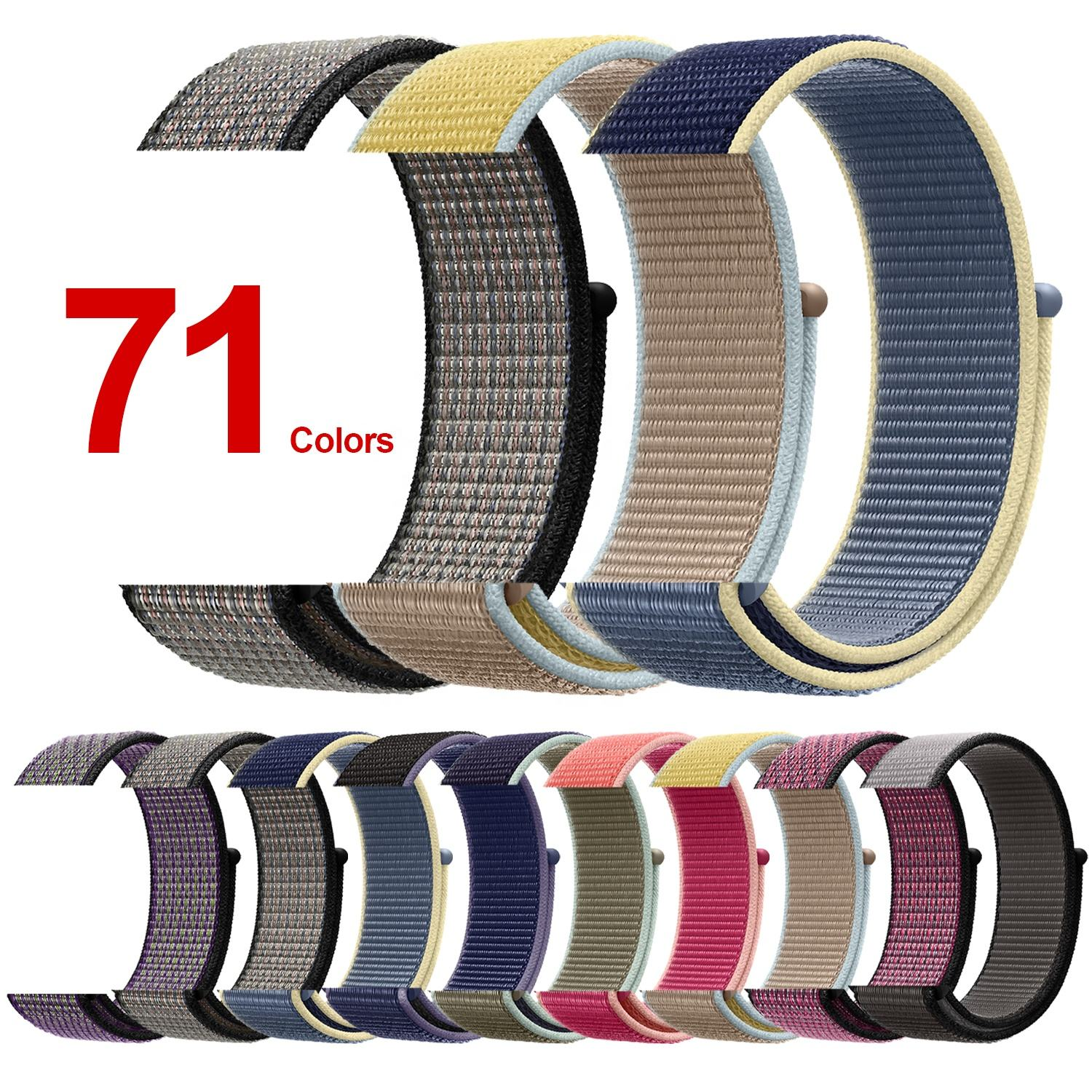 Tschick Nylon Wristbands For Apple Watch Band 38/40mm 42/44mm,Woven Nylon Sport Loop Replacement Strap For iWatch Series 5 4 3 2