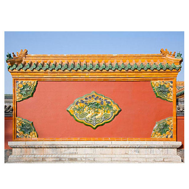 asian style chinese clay roof tiles