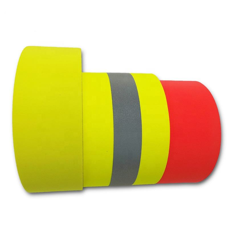 Flame Retardant Reflective Fabric Colorful safety reflective tape fabric for Work Wear