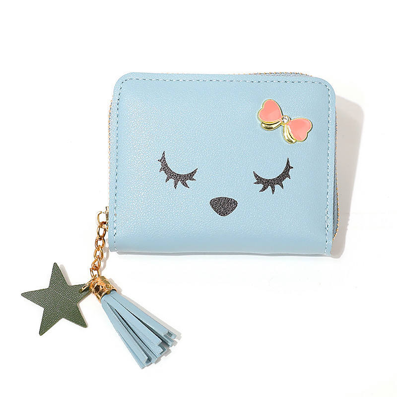 Wholesale small wallet zipper buckle wallet holder bags