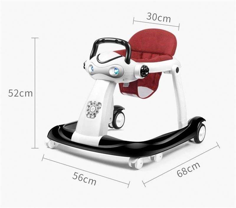 Music Toy Toddler Round Activity Pusher 3 in 1 Baby Walker Ride on Car Assistant Unique Baby Walker