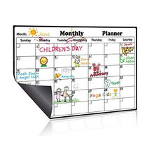 "Monthly Planner Magnetic Calendar For Refrigerator Large Whiteboard Erasable Meal Planner Organizer for Office 16.9"" x 11.8"""