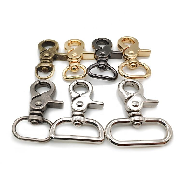 Wholesale Metal Bags Accessories Handbags Buckle Dog Chain Hook Alloy Metal Trigger Swivel Snap Hook