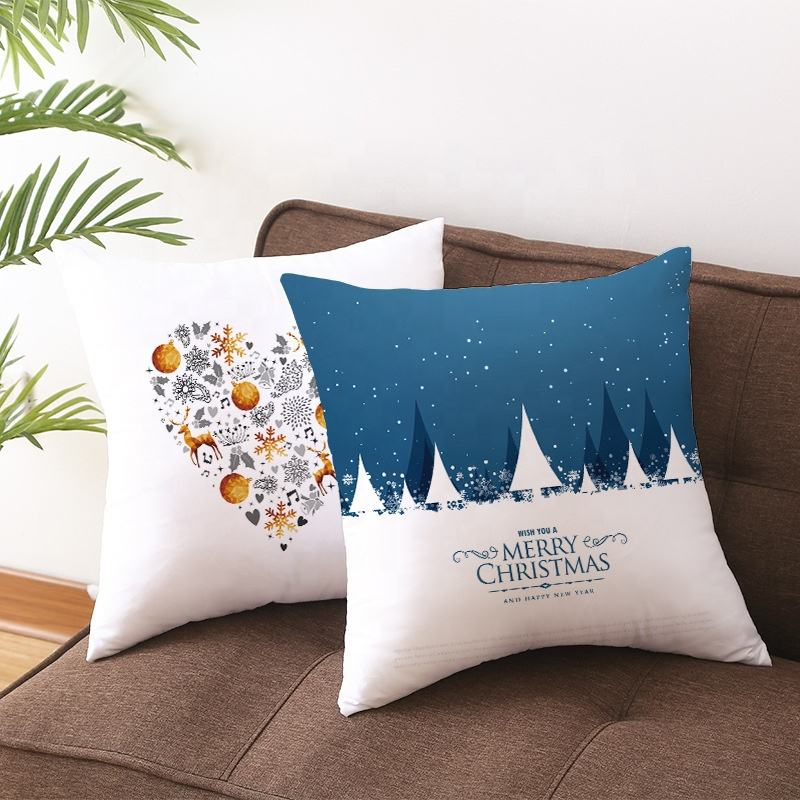 Wholesale Digital Printing Custom Print Christmas Decoration Pillow Case Pillow Cover Cushion Cover