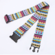 Custom Travel Suitcase Tag Belt TSA Lock Sublimation Polyester Luggage Strap with Handle Scale