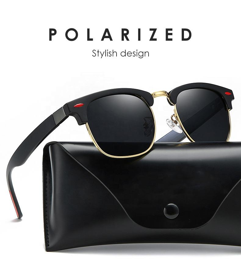 Classic polarized sunglasses men's glasses fashion rice nail retro sunglasses glasses manufacturers wholesale