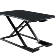 Height Adjustable sit stand metal frame desk laptop table Gas Spring Riser office computer table
