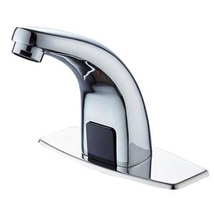 Deck mount automatico grifo sensor water tap chrome brass water saving hospital automatic smart tap bathroom faucet