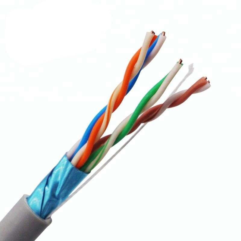 Toptan çin kedi 6 utp mavi renk kablo özellikleri yangına dayanıklı cat6 lan kablosu