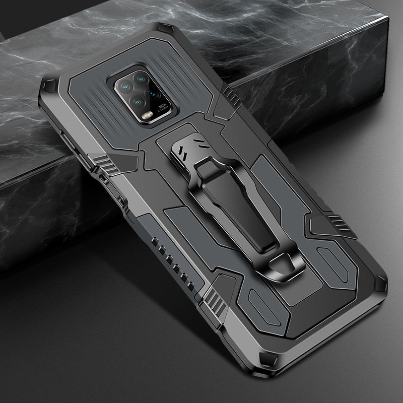RD Factory Wholesale ShockProof Back Clip Kickstand Phone Case For XiaoMi RedMi Note 9 / 9S