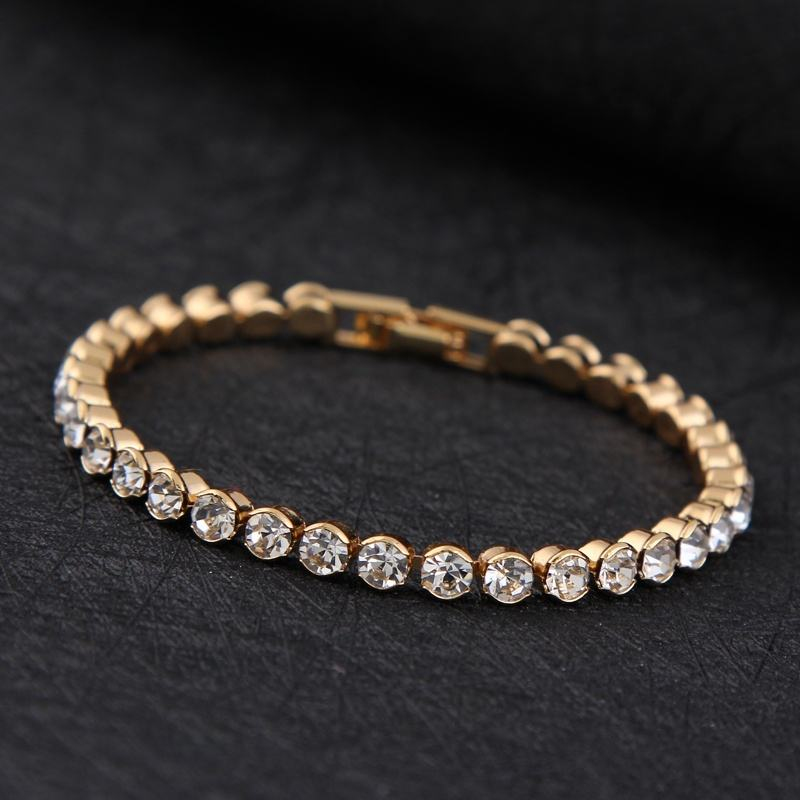 New Design High Quality Silver or Gold Plated Charm Shiny Austria Crystal Bracelets Women Fashion Jewelry