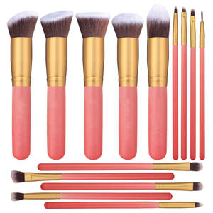 2019 venda quente ir pro amazon ebay venda quente pincel de maquiagem definir ouro rosa make up brushes