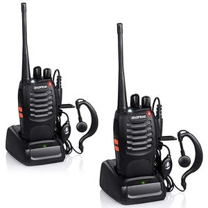 BF 888S UHF VHF Handy Commercial Two Way Radio Walk Talky Walkie Talkies for Outdoor Emergency