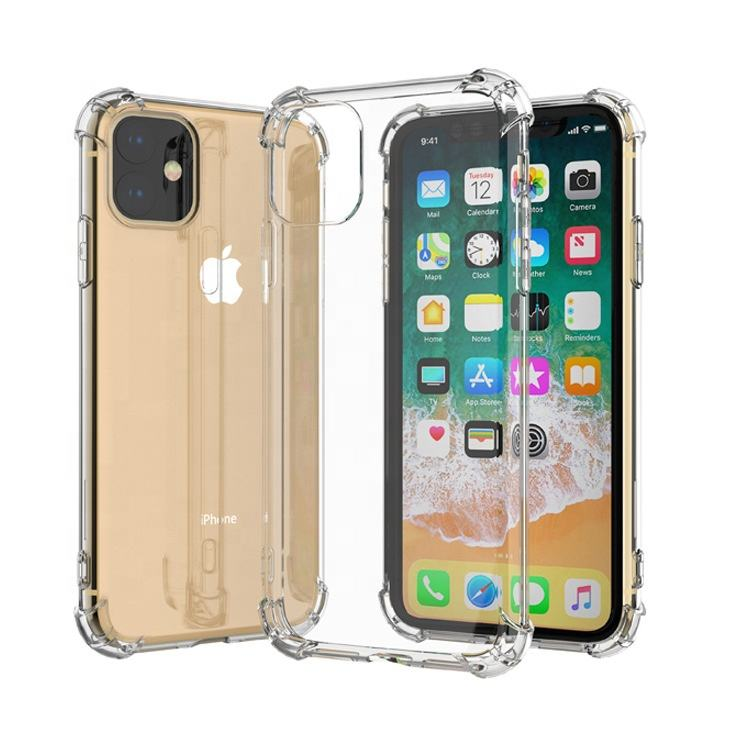 premium 1.5mm shockproof luxury transparent TPU case for iPhone 11 12 pro case