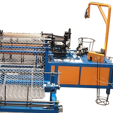 HBFL full automatic hot sale Diamond Gi and pvc wire mesh chain link fence net making machine factory best price in India