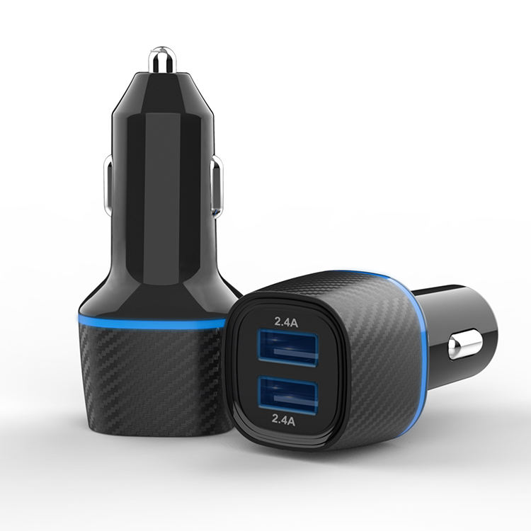 OEM Draagbare 2 USB Port 3.0 Universele Dual USB Car Charger Adapter Met Led Display