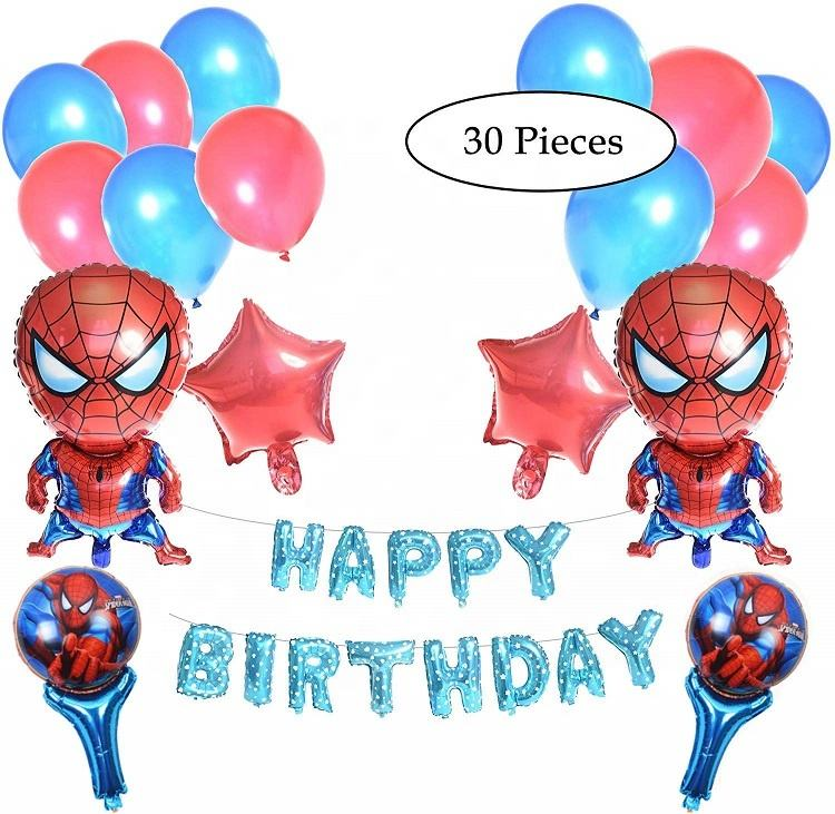 Umiss Paper Spiderman Party Supplies Set For Birthdays, Kids, Fiestas, Weddings and Holiday Decorations Factory OEM