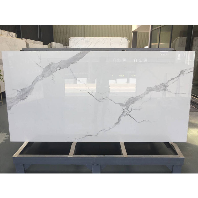 Wholesale Natural stone table top Calacatta white marble slabs for kitchen countertop