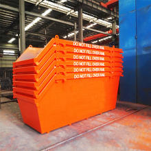 outdoor stackable steel SCRAP BIN industrial waste chain lift bins marrel skip bin