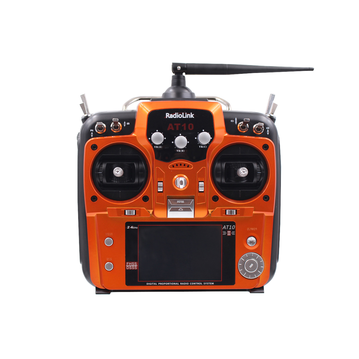 RadioLink-transmisor remoto AT10 II, 2,4 Ghz, 12 canales, con receptor R12DS, Dron Quadcopter RC