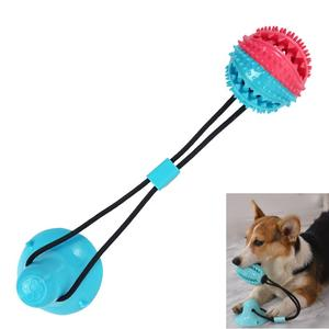 Pet Supplies Self-Playing Rubber Ball Molar Bite Chew Dog Suction Cup Tug Dog Rope Toy
