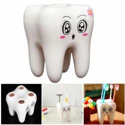 Amazon Hot selling 4 Holes Smily Face Toothbrush Holder Rack Cartoon Design Toothbrush Bracket manufacturer in China