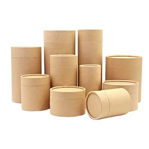 Customized Craft Paper Packaging Box Cylinder Round Containers For Food Paper Tube Packaging