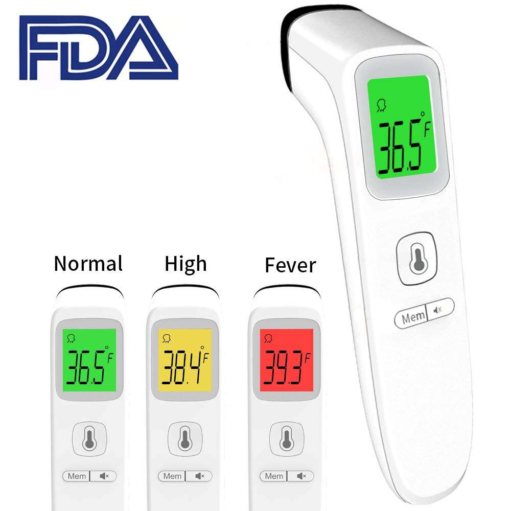 CE/FDA Approved Medical Clinical Fever Meat Household Head Non Contact Temperature Forehead Digital Infrared Body Thermometer
