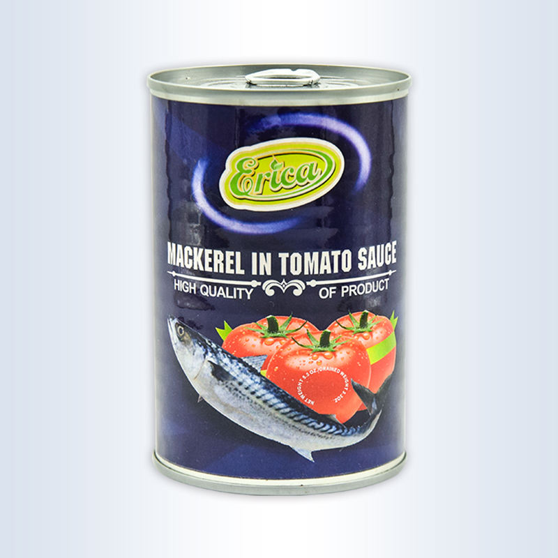Low Price Factory Wholesale Canned Food Mackerel Fish in Tomato Sauce 425g 155g with Custom Logo