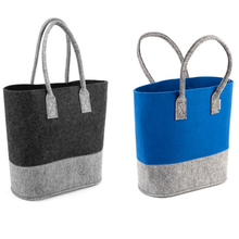Promotion Hot Sale Grow Splice Gray Woman Long Shoulder Felt Shopping Bag